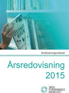 Årsredovisningar: Skolforskningsinstitutets årsredovisning 2015 med bild på en systematic review