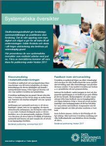 Systematiska översikter, informationsblad