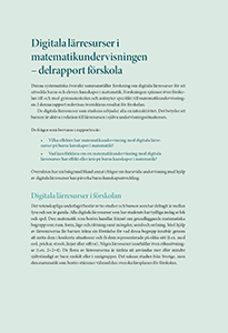 Sammanfattning Digitala lärresurser i matematikundervisningen delrapport förskola