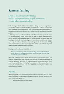 Sammanfattning Språk- och kunskapsutvecklande undervisning i det flerspråkiga klassrummet