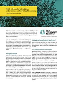 Informationsblad Språk- och kunskapsutvecklande undervisning i det flerspråkiga klassrummet