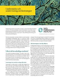 Informationsblad Läsförståelse och undervisning om lässtrategier