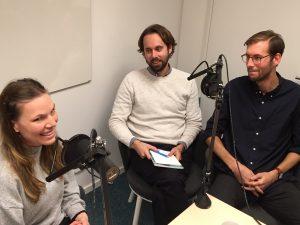 Avsnitt 1: Individanpassad vuxenutbildning, från vänster Alva Appelgren, Pontus Wallin och Daniel Edwall